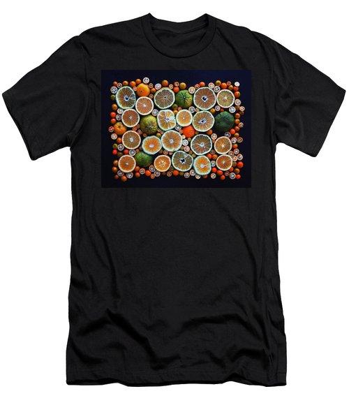 Winter Citrus Mosaic Men's T-Shirt (Athletic Fit)