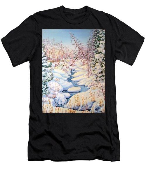 Winter Creek 1  Men's T-Shirt (Athletic Fit)