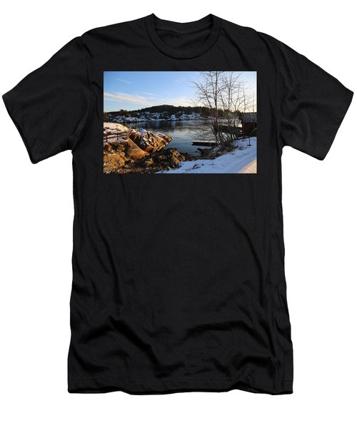 Winter Day By The Oslo Fjords, Norway.  Men's T-Shirt (Athletic Fit)
