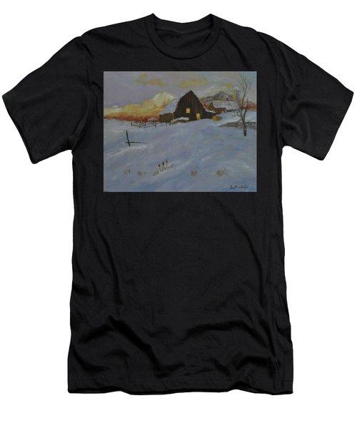 Winter Dusk On The Farm Men's T-Shirt (Athletic Fit)