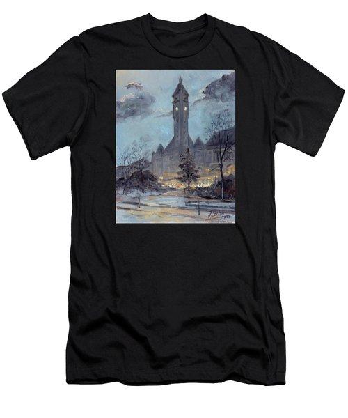 Winter Dusk - Union Station Men's T-Shirt (Athletic Fit)