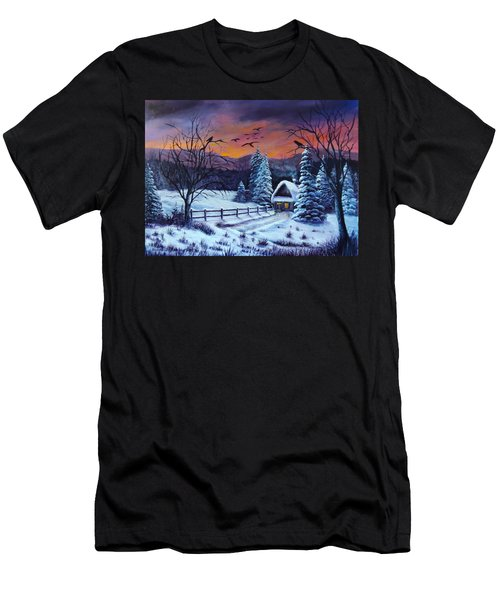Winter Evening 2 Men's T-Shirt (Athletic Fit)