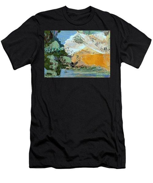 Winter Fantasy Men's T-Shirt (Slim Fit) by Nancy Kane Chapman