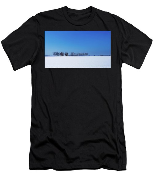 Winter Farm Blue Sky Men's T-Shirt (Athletic Fit)