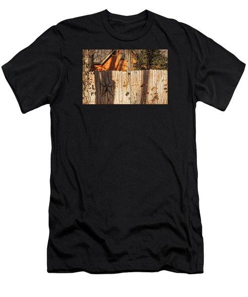 Winter Fence Men's T-Shirt (Athletic Fit)