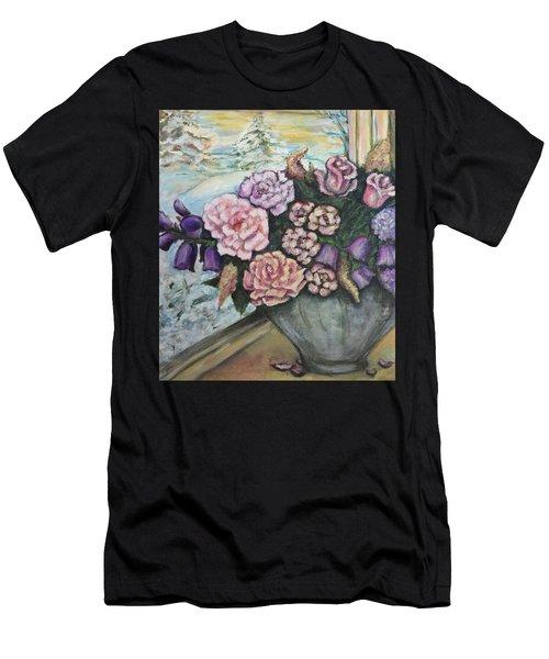 Winter Flowers Men's T-Shirt (Athletic Fit)