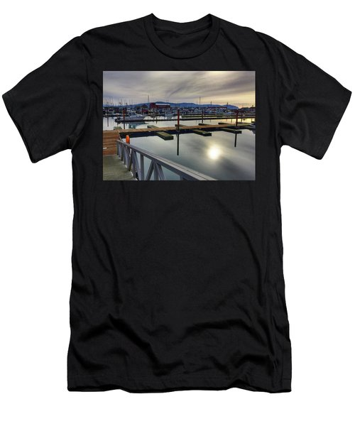 Men's T-Shirt (Slim Fit) featuring the photograph Winter Harbor by Chriss Pagani