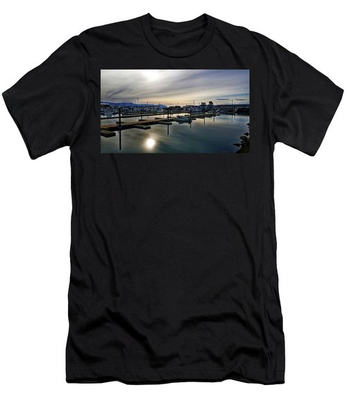 Winter Harbor Revisited #mobilephotography Men's T-Shirt (Athletic Fit)