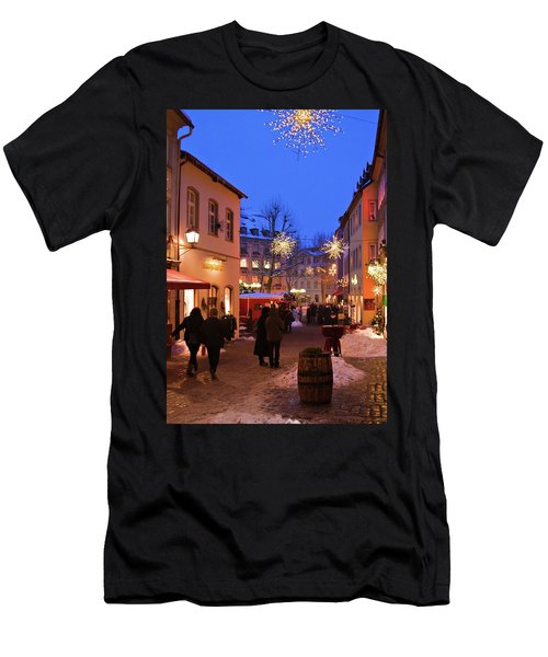 Men's T-Shirt (Athletic Fit) featuring the photograph Winter Holidays In Bamberg by Tatiana Travelways