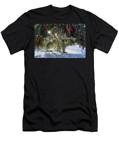 Winter Holly Men's T-Shirt (Athletic Fit)