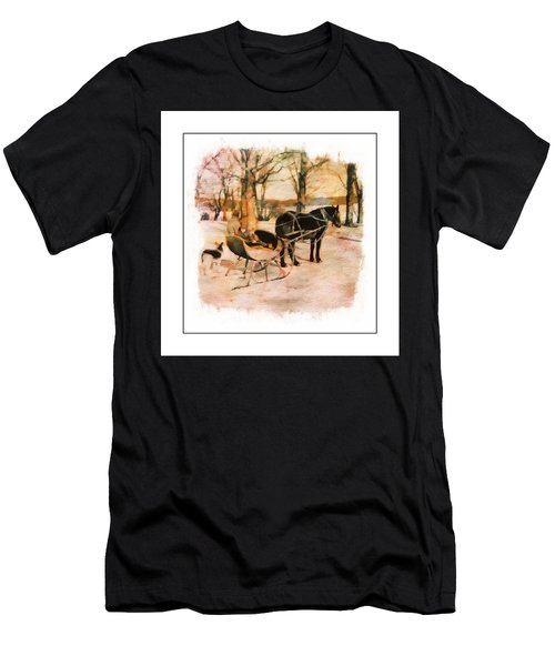 Winter Horse Sled Men's T-Shirt (Athletic Fit)