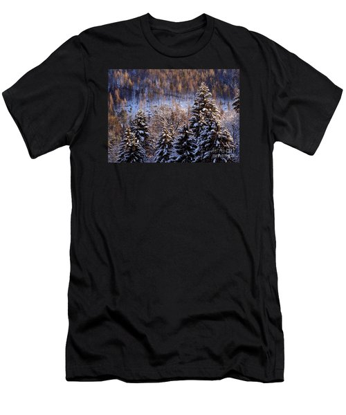 winter in Bavaria 8 Men's T-Shirt (Slim Fit) by Rudi Prott