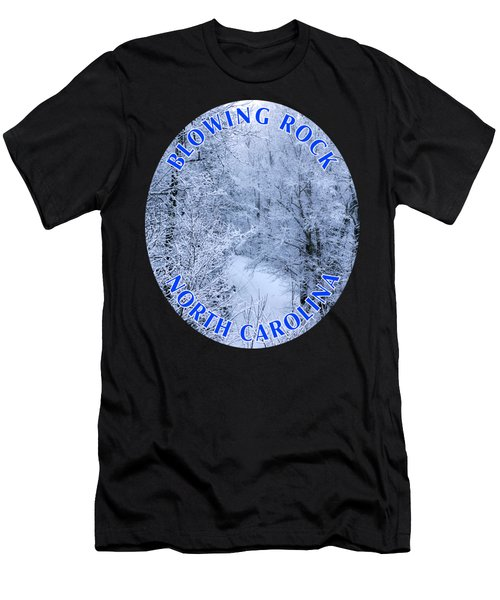 Winter In Blowing Rock T-shirt Men's T-Shirt (Athletic Fit)
