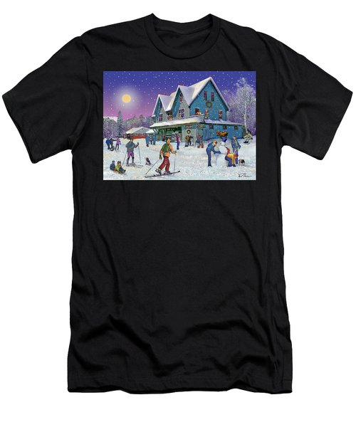Winter In Campton Village Men's T-Shirt (Athletic Fit)