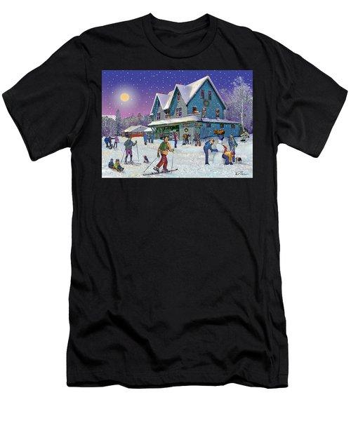 Winter In Campton Village Men's T-Shirt (Athletic Fit)