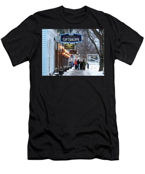 Winter In Cape Vincent Men's T-Shirt (Athletic Fit)