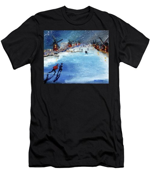 Winter In The Netherlands Men's T-Shirt (Athletic Fit)