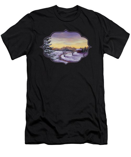 Winter In Vermont Men's T-Shirt (Athletic Fit)