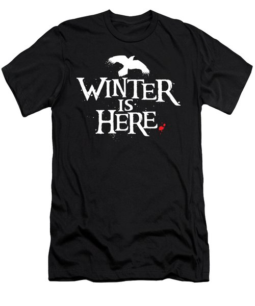Winter Is Here - White Raven Men's T-Shirt (Athletic Fit)