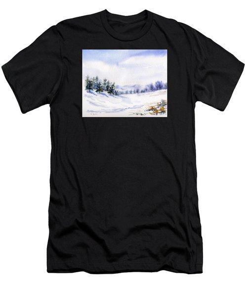 Winter Landscape Snow Scene Men's T-Shirt (Athletic Fit)