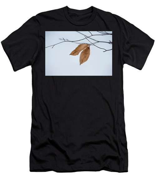 Men's T-Shirt (Athletic Fit) featuring the photograph Winter Leaves by Tom Singleton