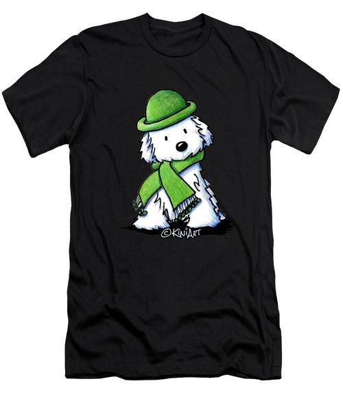 Winter Maltese Men's T-Shirt (Athletic Fit)