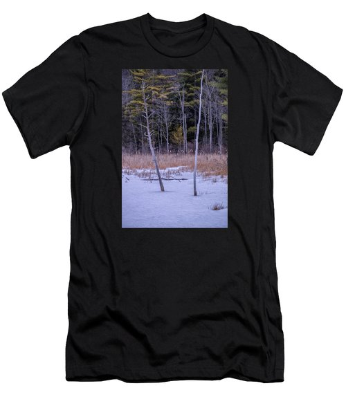 Winter Marsh And Trees Men's T-Shirt (Athletic Fit)