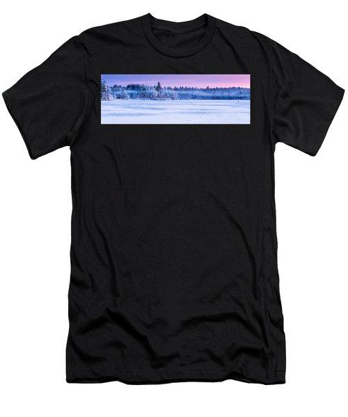 Winter Mist Baxter Lake New Hampshire Men's T-Shirt (Athletic Fit)