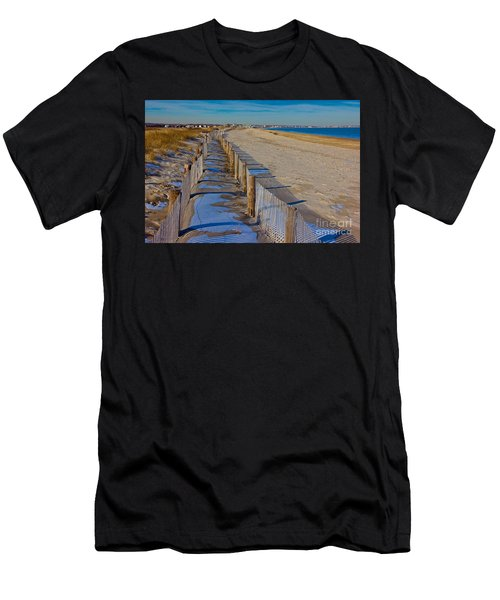 Winter On Duxbury Beach Men's T-Shirt (Athletic Fit)