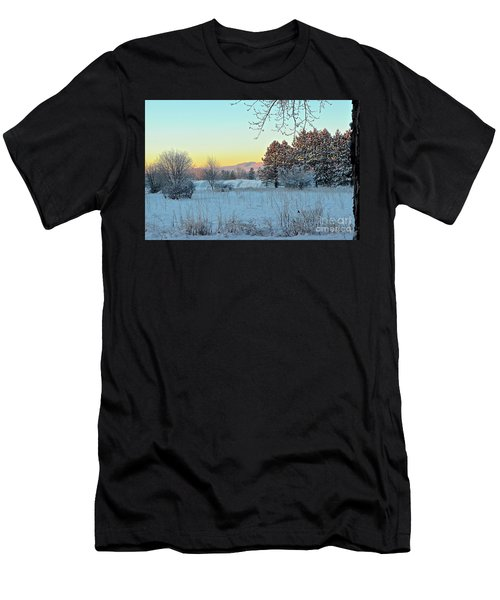 Winter On The Tree Farm Men's T-Shirt (Athletic Fit)