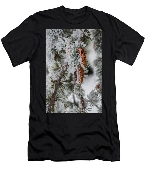 Winter Pine Cones Men's T-Shirt (Athletic Fit)