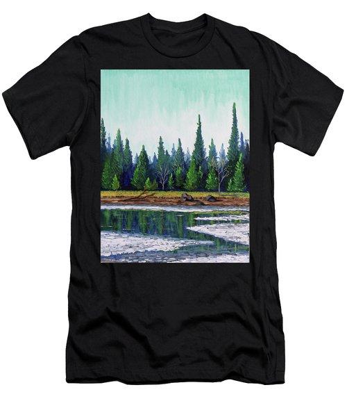 Winter Pond Men's T-Shirt (Athletic Fit)