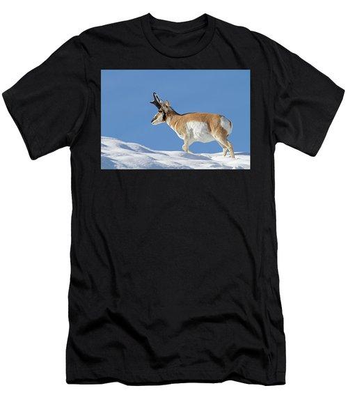 Winter Pronghorn Buck Men's T-Shirt (Athletic Fit)
