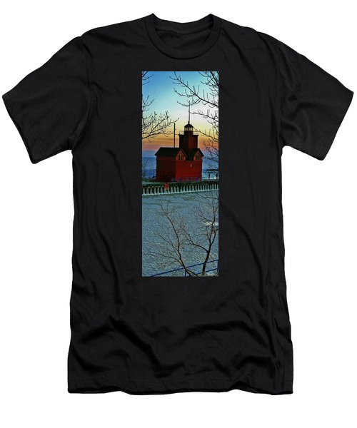 Winter Red Men's T-Shirt (Athletic Fit)