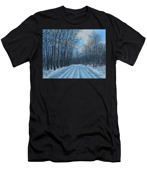 Winter Road To The Gas Well Men's T-Shirt (Athletic Fit)