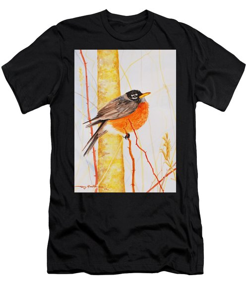 Winter Robin Men's T-Shirt (Athletic Fit)