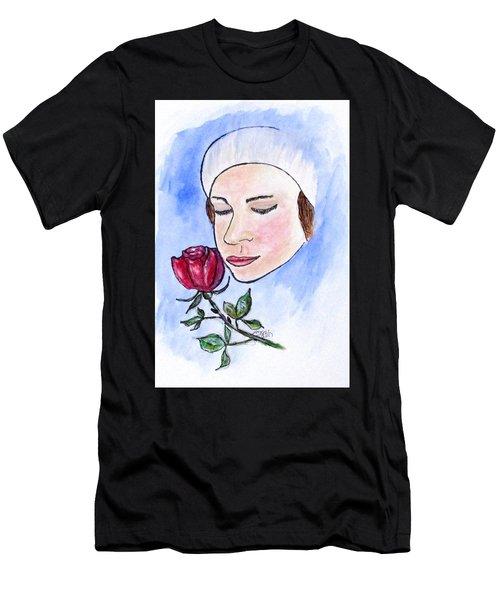 Winter Rose Men's T-Shirt (Athletic Fit)