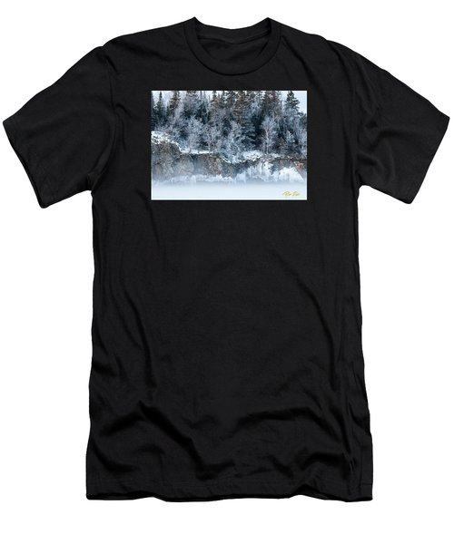Men's T-Shirt (Athletic Fit) featuring the photograph Winter Shore by Rikk Flohr
