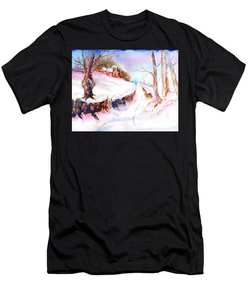 Winter Snow Men's T-Shirt (Athletic Fit)