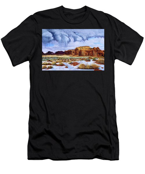 Winter Storm In Mystery Valley Men's T-Shirt (Athletic Fit)