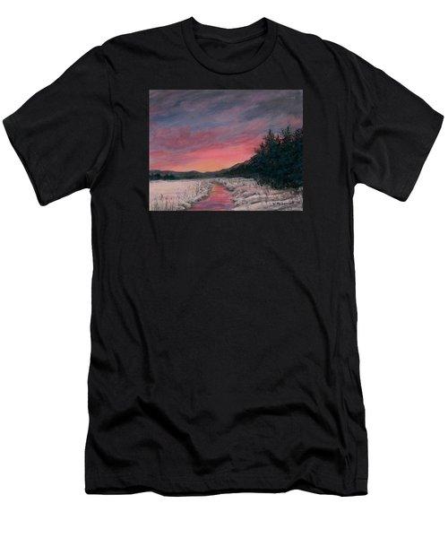 Winter Sundown Men's T-Shirt (Athletic Fit)