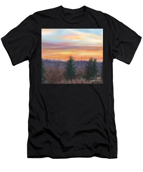 Winter Sunrise Men's T-Shirt (Athletic Fit)