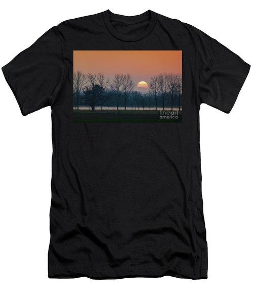 Winter Sunset 1 Men's T-Shirt (Slim Fit) by Jean Bernard Roussilhe