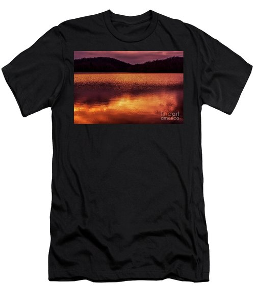 Winter Sunset Afterglow Reflection Men's T-Shirt (Athletic Fit)
