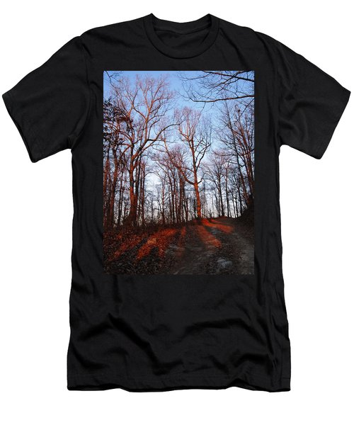 Winter Sunset In Georgia Mountains Men's T-Shirt (Athletic Fit)