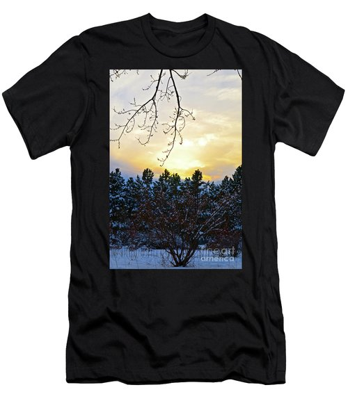 Winter Sunset On The Tree Farm #2 Men's T-Shirt (Athletic Fit)