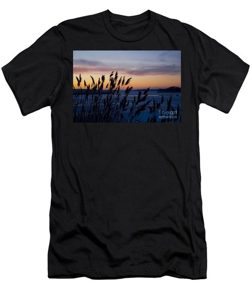 Men's T-Shirt (Slim Fit) featuring the photograph Winter Sunset  by Paula Guttilla