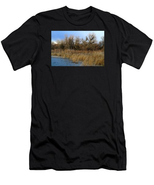 Winter Trees Along The Snake Men's T-Shirt (Athletic Fit)