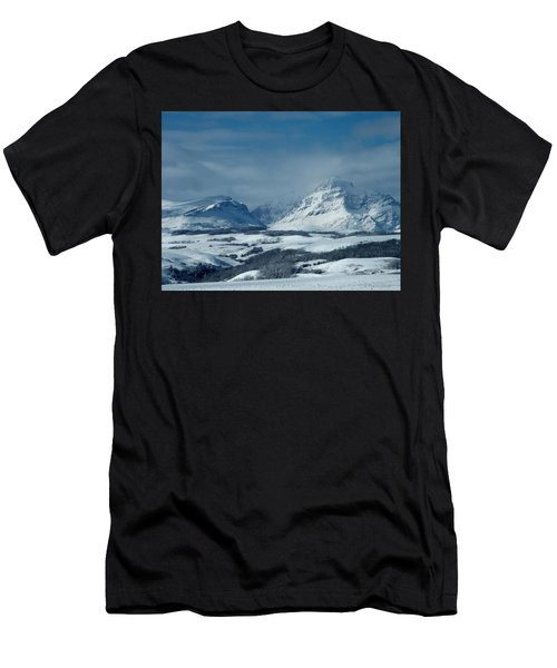 Winter View Of Rising Wolf Mountain Men's T-Shirt (Athletic Fit)