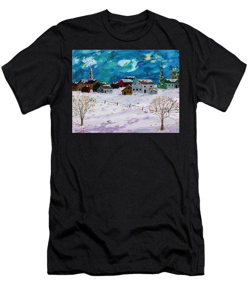 Winter Village Men's T-Shirt (Athletic Fit)